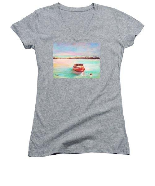 Tucked In Women's V-Neck T-Shirt