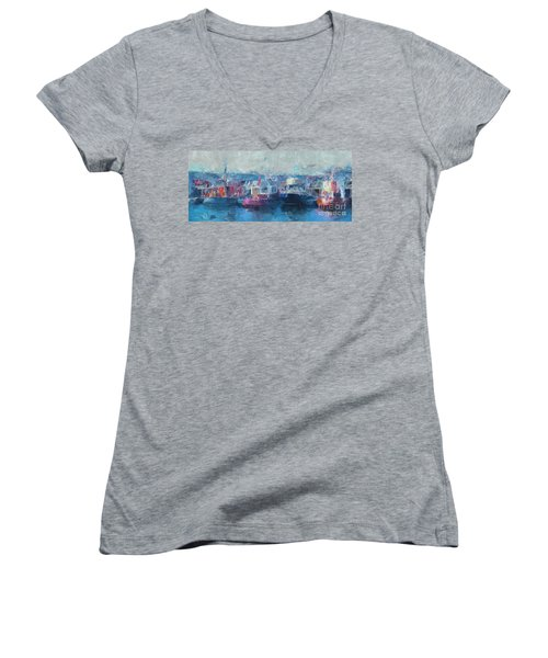 Tugs Together  Women's V-Neck (Athletic Fit)