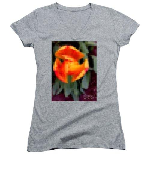 Tulip 1 Honoring Princess Diana Women's V-Neck T-Shirt