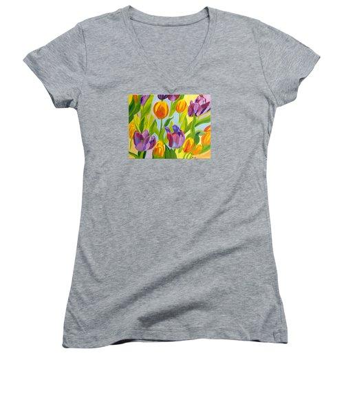 Tulip Fest Women's V-Neck T-Shirt