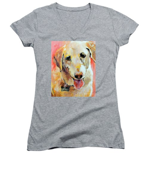 Tulip Women's V-Neck T-Shirt (Junior Cut) by Jodie Marie Anne Richardson Traugott          aka jm-ART