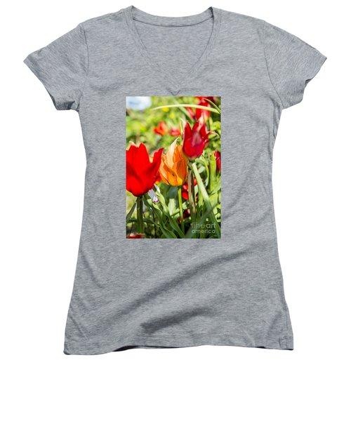 Tulip - The Orange One 02 Women's V-Neck