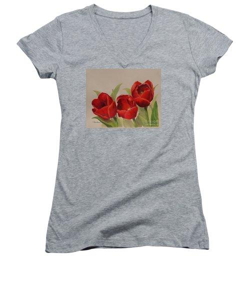 Tulip Trio Women's V-Neck