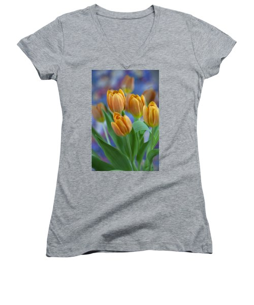 Tulips 2015 #1 Women's V-Neck (Athletic Fit)
