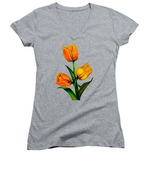 Tulips Women's V-Neck T-Shirt