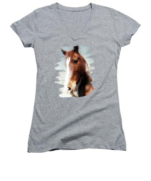 Tumbleweed Sideways Glance Women's V-Neck T-Shirt
