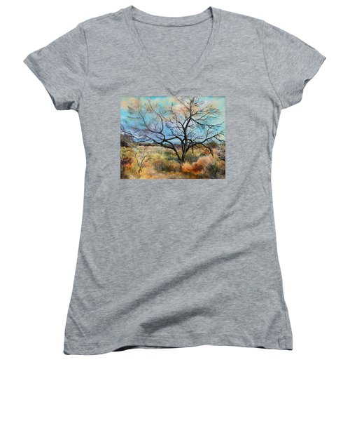 Tumbleweeds Women's V-Neck T-Shirt