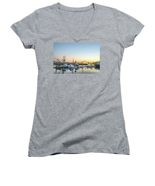 Tuna Boats Resting For The Night Women's V-Neck