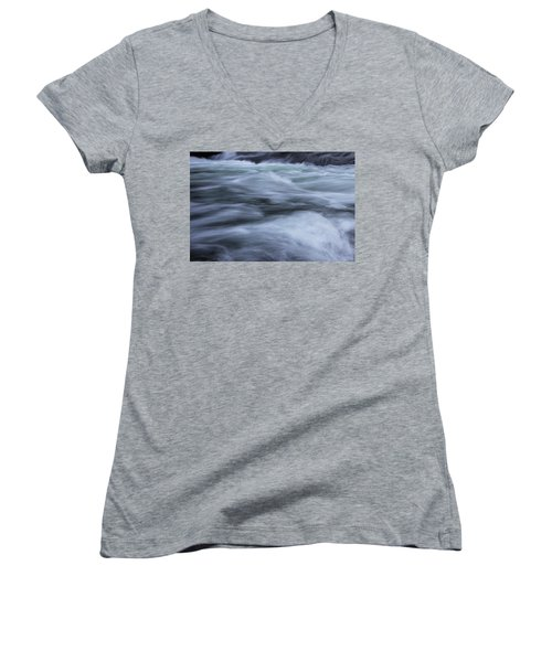 Women's V-Neck T-Shirt (Junior Cut) featuring the photograph Turbulence 2 by Mike Eingle