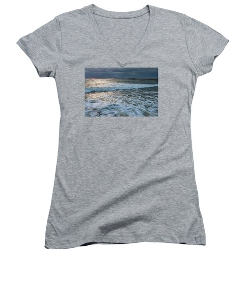 Women's V-Neck (Athletic Fit) featuring the photograph Turbulence by Dan McGeorge