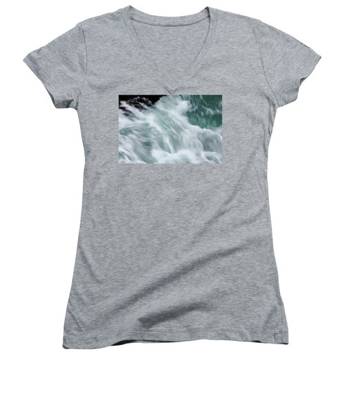 Turbulent Seas Women's V-Neck (Athletic Fit)