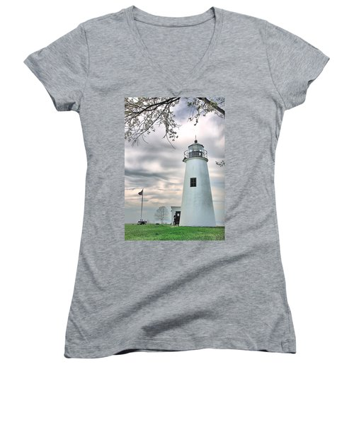 Turkey Point Lighthouse Women's V-Neck