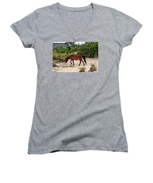 Turn Right At The Next Bush Women's V-Neck T-Shirt