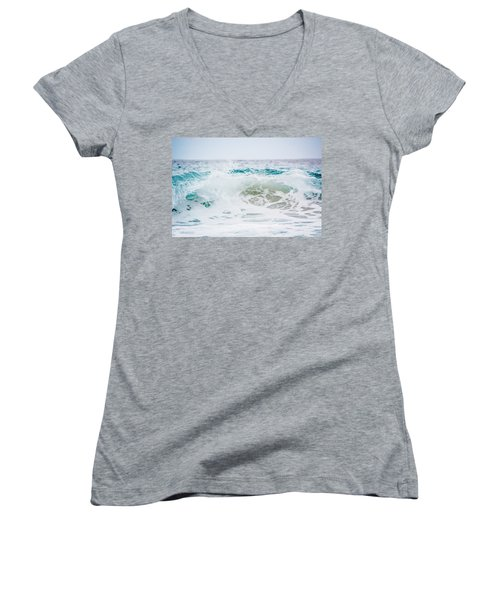 Turquoise Beauty Women's V-Neck T-Shirt (Junior Cut) by Shelby Young