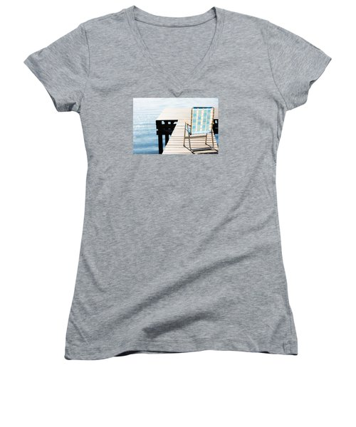 Turquoise Paradise Women's V-Neck T-Shirt