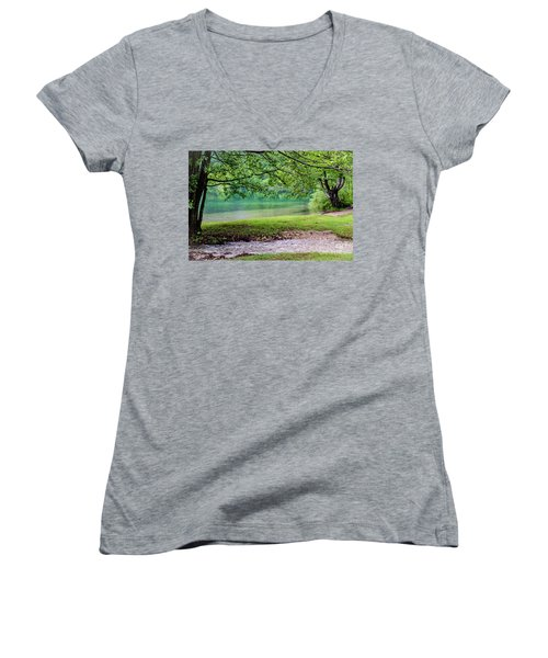 Turquoise Zen - Plitvice Lakes National Park, Croatia Women's V-Neck
