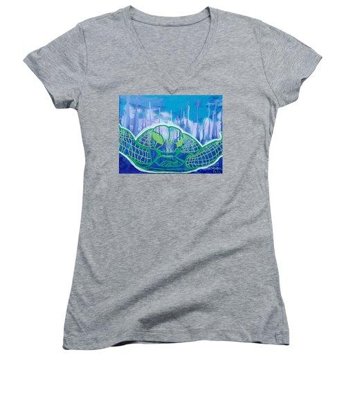 Turtle Women's V-Neck T-Shirt