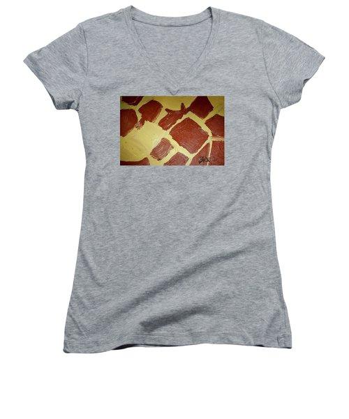 Turtle Lamp Women's V-Neck T-Shirt (Junior Cut) by Shea Holliman