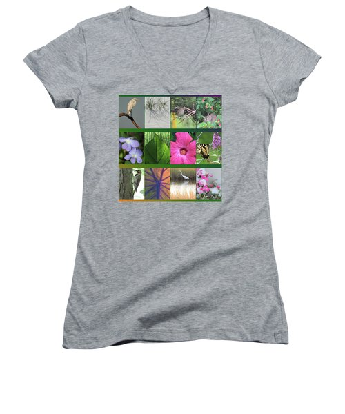 Women's V-Neck T-Shirt (Junior Cut) featuring the photograph Twelve Months Of Nature by Peg Toliver