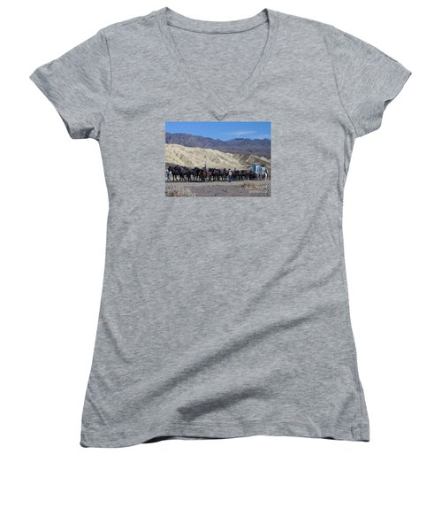 Women's V-Neck T-Shirt (Junior Cut) featuring the photograph Twenty Mule Teams by Ivete Basso Photography