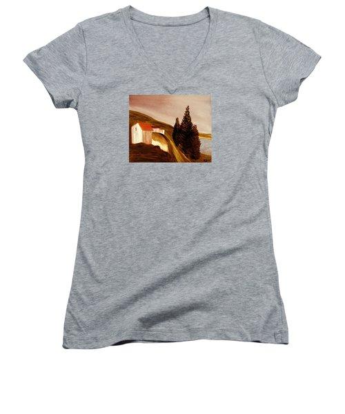 Twilight Women's V-Neck T-Shirt (Junior Cut) by Bill OConnor
