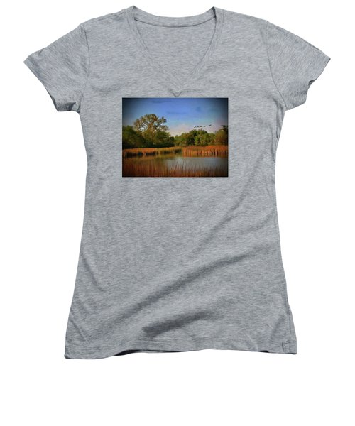 Twilight Flight Women's V-Neck T-Shirt