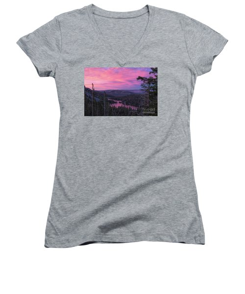 Twilight Mammoth Lakes  Women's V-Neck (Athletic Fit)