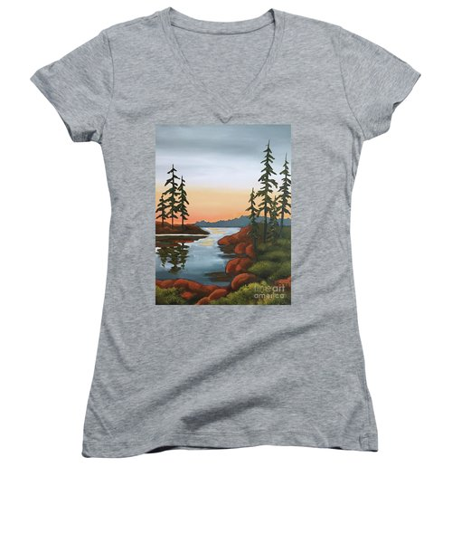 Twilight Sunset Women's V-Neck