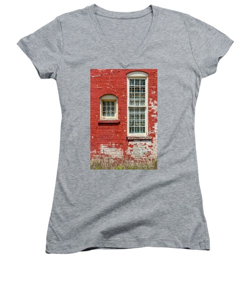 Women's V-Neck T-Shirt (Junior Cut) featuring the photograph Twins by Christopher Holmes