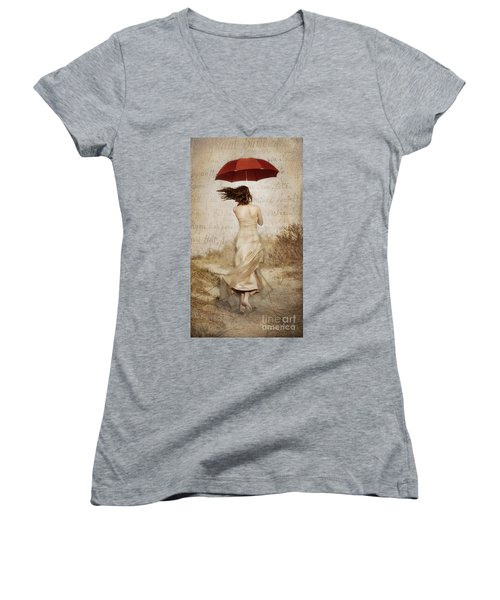 Twirling Painted Lady Women's V-Neck