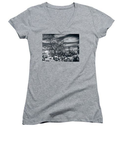 Twisted Branches Women's V-Neck