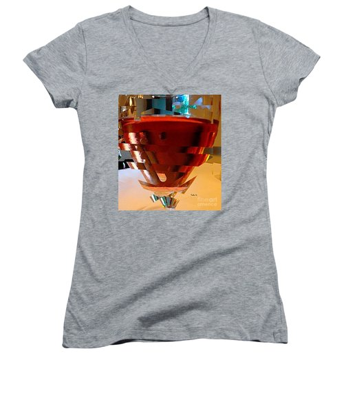 Twisted Wine Glass Women's V-Neck (Athletic Fit)