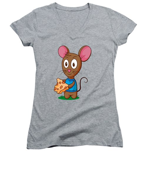 Twitch The Mouse Women's V-Neck