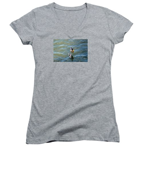 Two Brothers Women's V-Neck T-Shirt (Junior Cut) by Jean Bernard Roussilhe