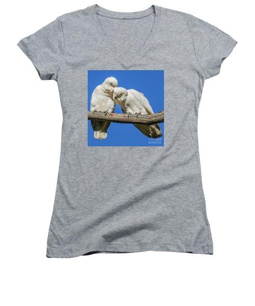 Two Corellas Women's V-Neck T-Shirt (Junior Cut)