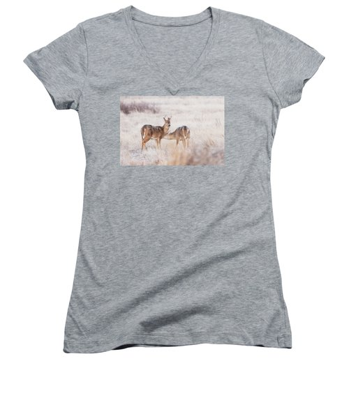 Two Deers Women's V-Neck (Athletic Fit)