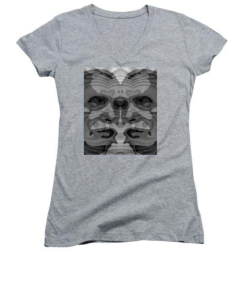 Two-faced Bw Version Women's V-Neck