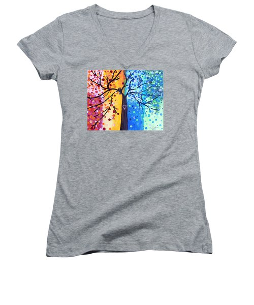 Two Moments Women's V-Neck T-Shirt