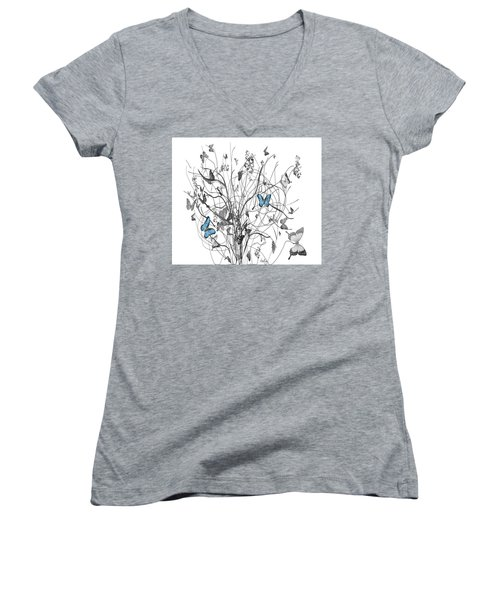 Two Of A Kind  Women's V-Neck T-Shirt (Junior Cut) by Sladjana Lazarevic