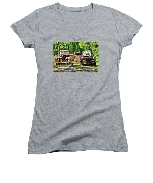 Two Old Dogs Women's V-Neck (Athletic Fit)