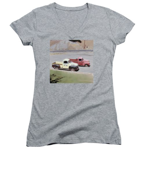 Two Pickups Women's V-Neck T-Shirt (Junior Cut)