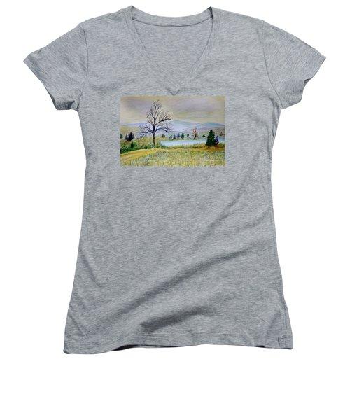 Two Tracking Women's V-Neck T-Shirt