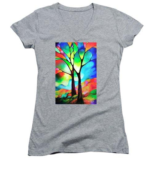 Two Trees Women's V-Neck T-Shirt