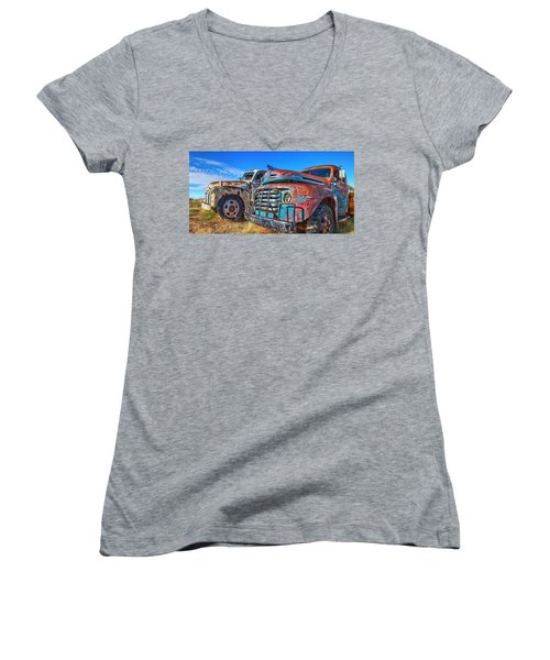 Two Trucks Women's V-Neck