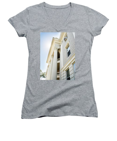 Women's V-Neck T-Shirt (Junior Cut) featuring the photograph Uga Beauty by Parker Cunningham
