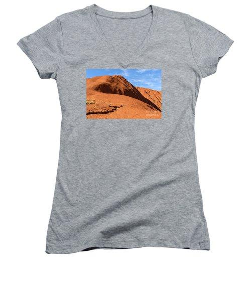 Women's V-Neck T-Shirt featuring the photograph Uluru 04 by Werner Padarin