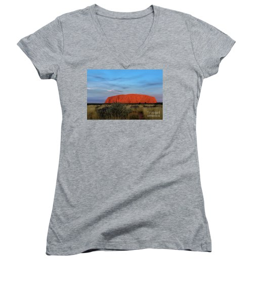 Uluru Sunset 03 Women's V-Neck