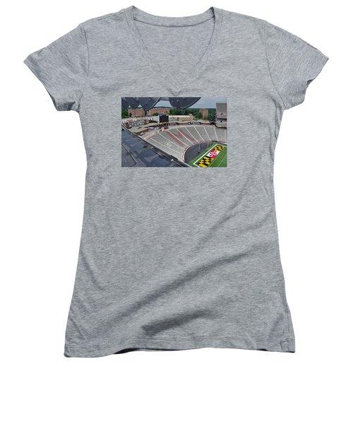Women's V-Neck T-Shirt (Junior Cut) featuring the photograph UM by Robert Geary