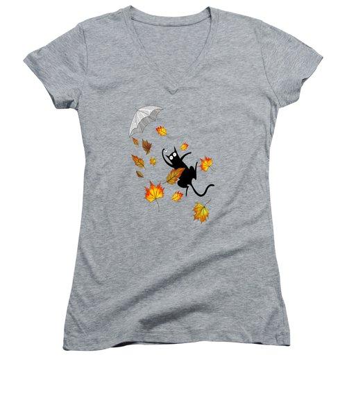 Umbrella Women's V-Neck T-Shirt