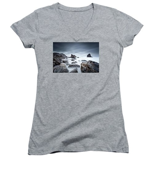 Women's V-Neck T-Shirt (Junior Cut) featuring the photograph Unbreakable by Jorge Maia